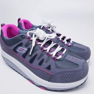 Skechers Shape-Ups 2.0 Gray Pink Shoes Sneakers